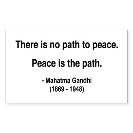 Gandhi 8 Rectangle Sticker