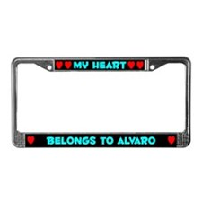 My Heart: Alvaro (#003) License Plate Frame