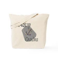 Anchor Navy Grandma Tote Bag