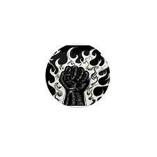 Black Fist Mini Button
