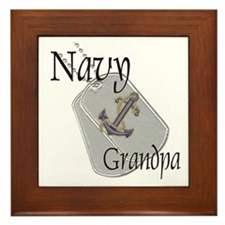 Anchor Navy Grandpa Framed Tile