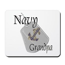 Anchor Navy Grandpa Mousepad