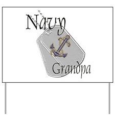 Anchor Navy Grandpa Yard Sign