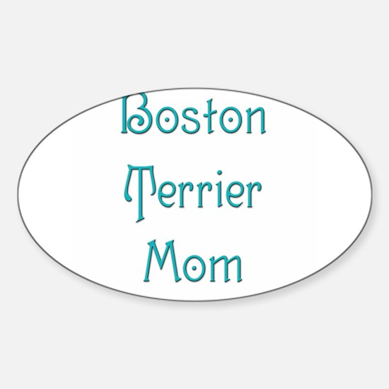 Boston Mom 10 Oval Decal