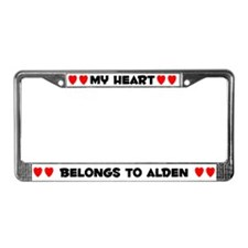 My Heart: Alden (#004) License Plate Frame