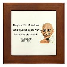 Gandhi 10 Framed Tile