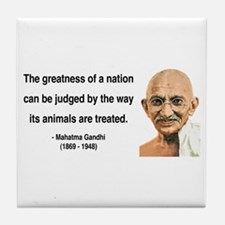 Gandhi 10 Tile Coaster