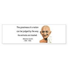 Gandhi 10 Bumper Car Sticker