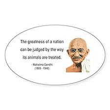 Gandhi 10 Oval Decal