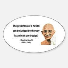 Gandhi 10 Oval Decal