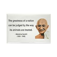 Gandhi 10 Rectangle Magnet (10 pack)