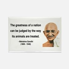 Gandhi 10 Rectangle Magnet (10 pack)