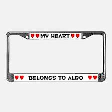 My Heart: Aldo (#004) License Plate Frame
