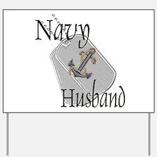 Anchor Navy Husband Yard Sign
