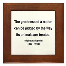 Gandhi 10 Framed Tile