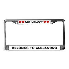 My Heart: Alejandro (#004) License Plate Frame
