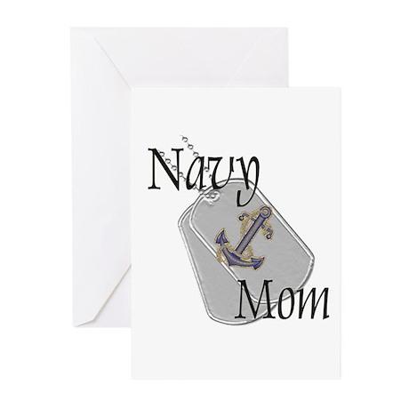 Anchor Navy Mom Greeting Cards (Pk of 20)