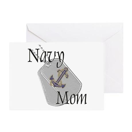 Anchor Navy Mom Greeting Card