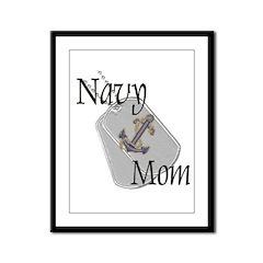Anchor Navy Mom Framed Panel Print