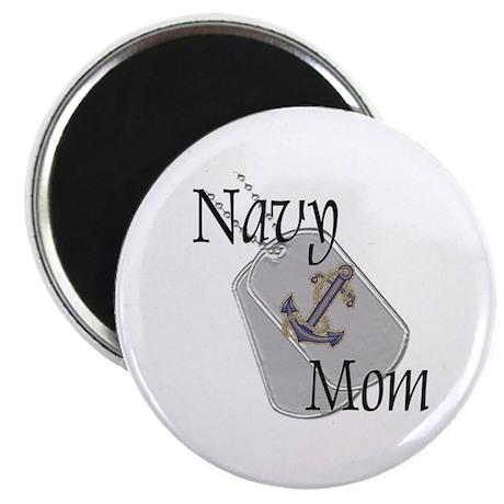 "Anchor Navy Mom 2.25"" Magnet (10 pack)"