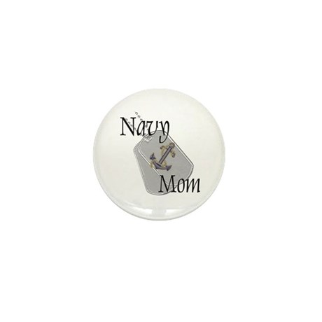 Anchor Navy Mom Mini Button (100 pack)