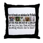 Doggie Line-up Throw Pillow