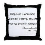 Gandhi 11 Throw Pillow