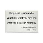 Gandhi 11 Rectangle Magnet (10 pack)