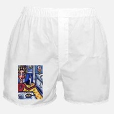 Boston Terrier food time Boxer Shorts