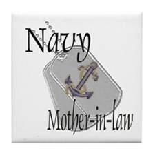 Anchor Navy Mother-in-law Tile Coaster