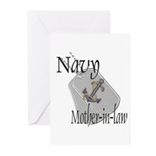 Anchor Navy Mother-in-law Greeting Cards (Pk of 10