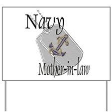Anchor Navy Mother-in-law Yard Sign