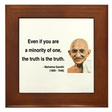 Gandhi 12 Framed Tile