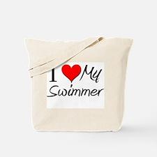 I Heart My Swimmer Tote Bag