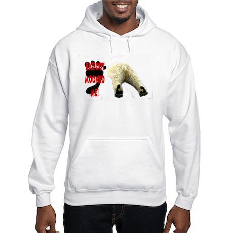 BIGFOOT, DANGER BIGFOOT SIGN Hooded Sweatshirt