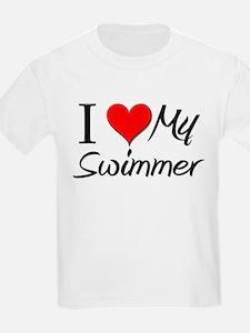 I Heart My Swimmer T-Shirt