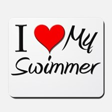 I Heart My Swimmer Mousepad