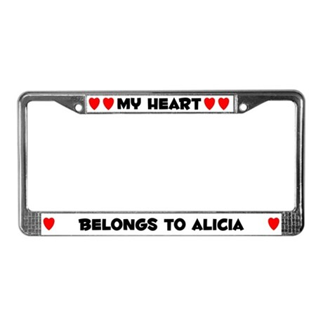 My Heart: Alicia (#004) License Plate Frame