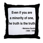 Gandhi 12 Throw Pillow