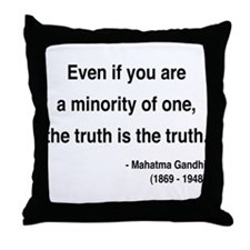 Gandhi 12 Throw Pillow