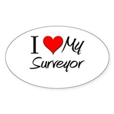 I Heart My Surveyor Oval Decal