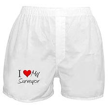I Heart My Surveyor Boxer Shorts