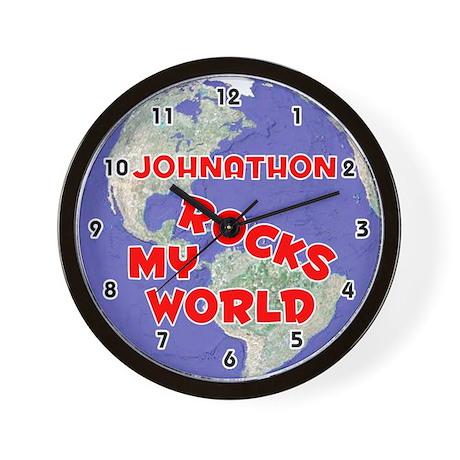 Johnathon Rocks My World (Red) Wall Clock