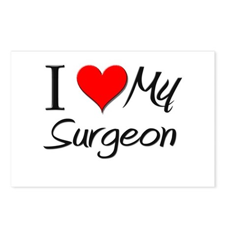 I Heart My Surgeon Postcards (Package of 8)