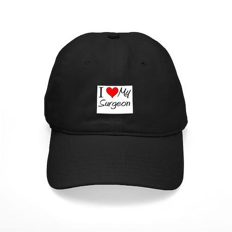 I Heart My Surgeon Black Cap