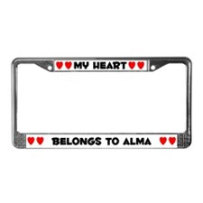 My Heart: Alma (#004) License Plate Frame