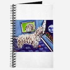 White Puli moon Journal