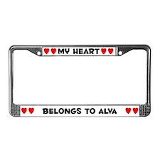 My Heart: Alva (#004) License Plate Frame