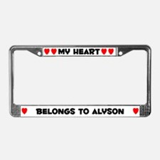 My Heart: Alyson (#004) License Plate Frame