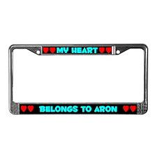 My Heart: Aron (#003) License Plate Frame